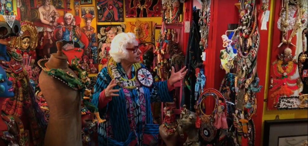 Virtual tour of Sue Kreitzman's art flat
